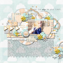 Digital Scrapbook Page by dotcomkari using Drift Away Kit by Sahlin Studio