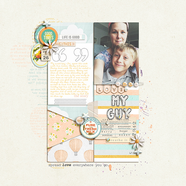 Digital Scrapbook Page by gracielou using Drift Away Kit by Sahlin Studio