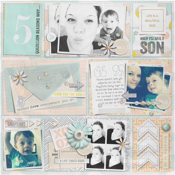 Digital Scrapbook Page by justagirl using Drift Away Kit by Sahlin Studio