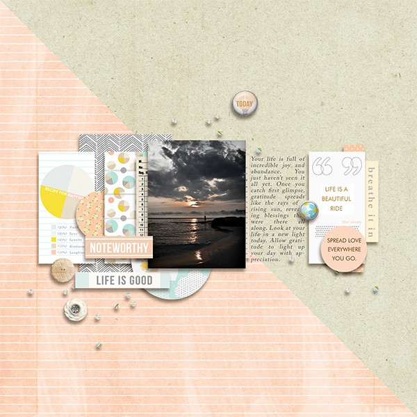 Digital Scrapbook Page by margelz using Drift Away Kit by Sahlin Studio