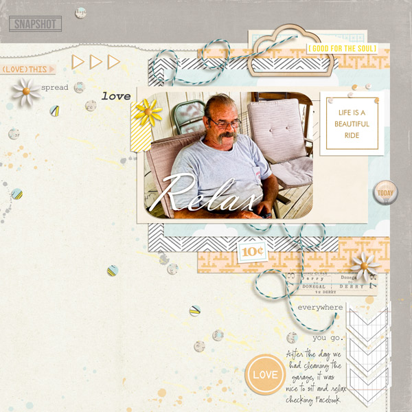 Father Digital Scrapbook Page by melrio using Drift Away  by Sahlin Studio