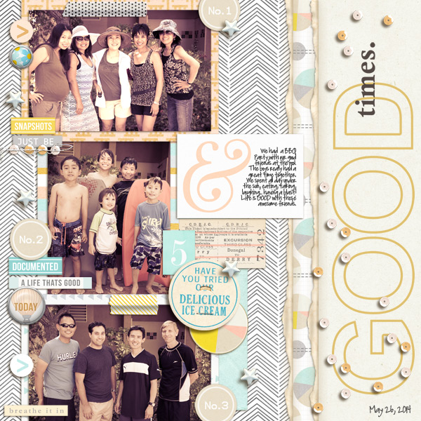 Digital Scrapbook Page by mikinenn using Drift Away Kit by Sahlin Studio