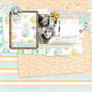 Digital Scrapbook Page by my2monkeys using Drift Away Kit by Sahlin Studio