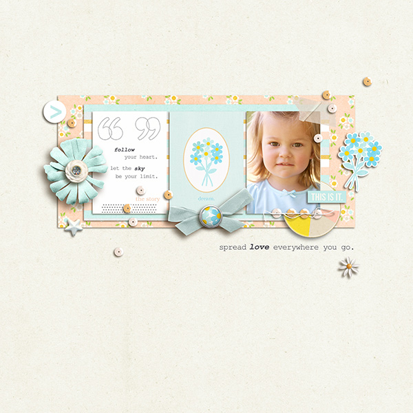 Digital Scrapbook Page by sucali using Drift Away Kit by Sahlin Studio