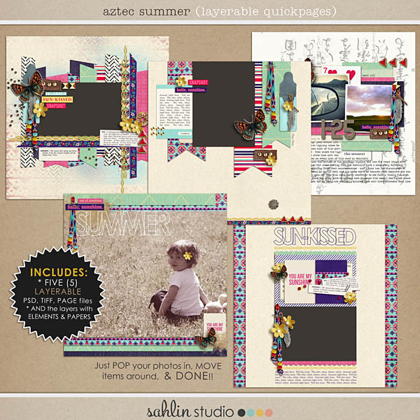 aztec summer (layered quickpages) by sahlin studio