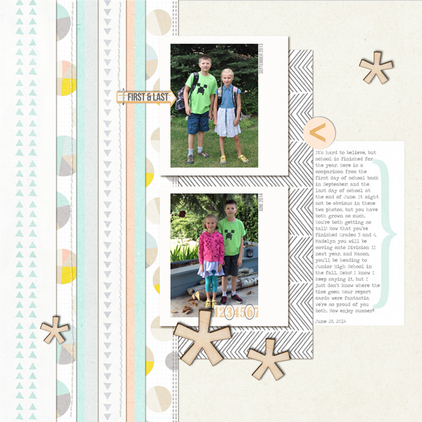 digital scrapbook layout created by ctmm4 featuring the July 2014 FREE template from Sahlin Studio