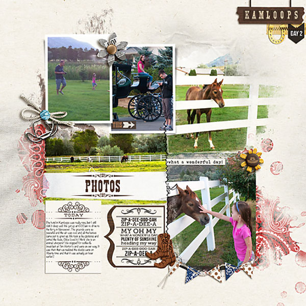 "Horseback Riding Digital page by HeatherPrins featuring ""Project Mouse: Frontier"" by Britt-ish Designs and Sahlin Studio"