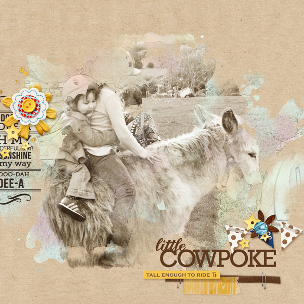 "Horseback riding digital scrapbook layout by MlleTerraMoka featuring ""Project Mouse: Frontier"" by Britt-ish Designs and Sahlin Studio"