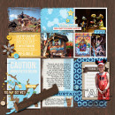 """Disney Frontier Land Project Life page by amberr featuring """"Project Mouse: Frontier"""" by Britt-ish Designs and Sahlin Studio"""