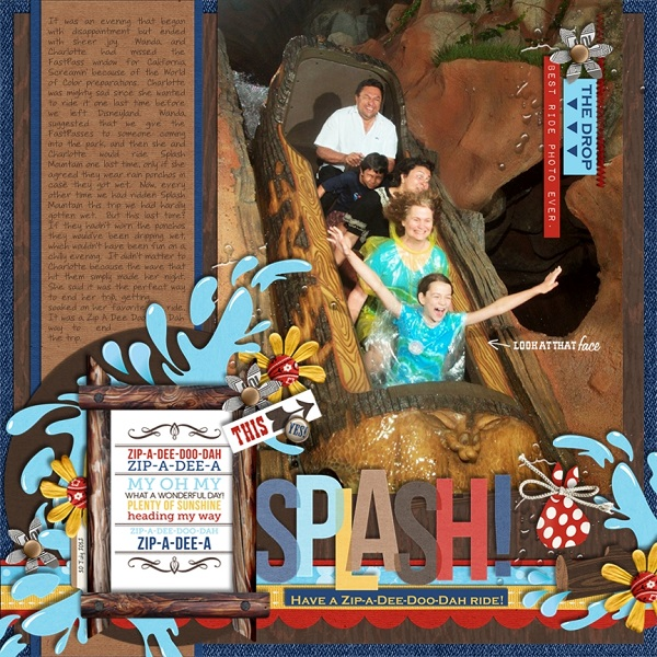 "Disney Splash Mountain digital page by jan featuring ""Project Mouse: Frontier"" by Britt-ish Designs and Sahlin Studio"
