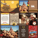 """Big Thunder Mountain digital Project Life page by julie featuring """"Project Mouse: Frontier"""" by Britt-ish Designs and Sahlin Studio"""