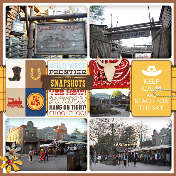 """Disney Frontierland digital Project Life page by justine featuring """"Project Mouse: Frontier"""" by Britt-ish Designs and Sahlin Studio"""