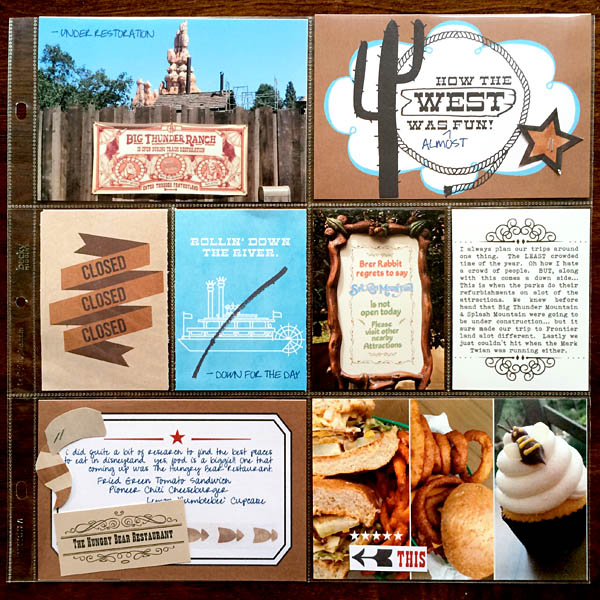 "Disney Frontierland Project Life page by kristasahlin featuring ""Project Mouse: Frontier"" by Britt-ish Designs and Sahlin Studio"