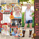 "Young Band concert digital scrapbook page by pne123 featuring ""Project Mouse: Frontier"" by Britt-ish Designs and Sahlin Studio"