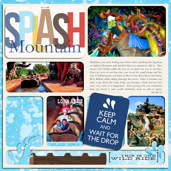 "Splash Mountain Frontierland Project Life page by  rlma featuring ""Project Mouse: Frontier"" by Britt-ish Designs and Sahlin Studio"