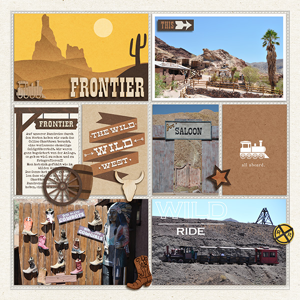 "Disney Frontierland Digital Project Life page by sucali featuring ""Project Mouse: Frontier"" by Britt-ish Designs and Sahlin Studio"