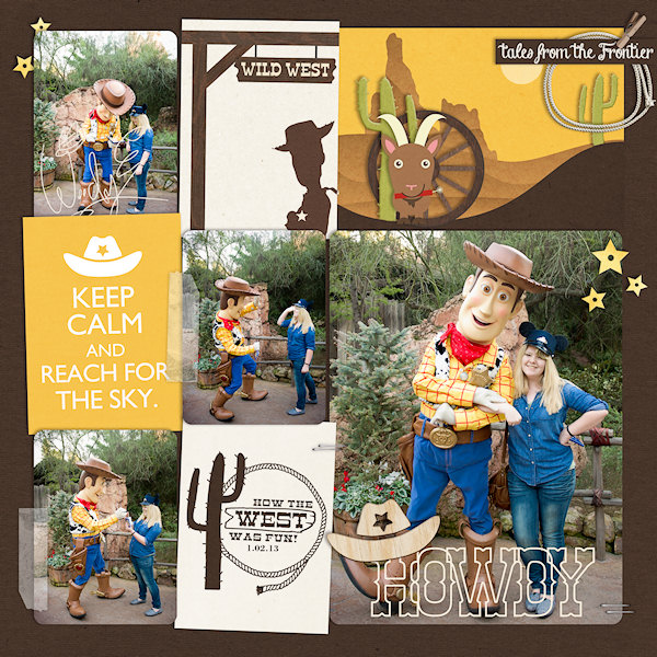 "Disney Woody Meet and Greet digital Project Life page by wendy featuring ""Project Mouse: Frontier"" by Britt-ish Designs and Sahlin Studio"