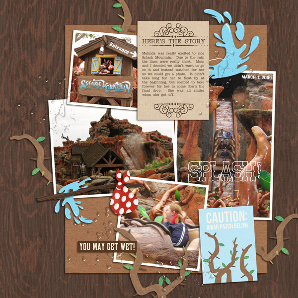 "Disney Splash Mountain digital page by yzerbear19 featuring ""Project Mouse: Frontier"" by Britt-ish Designs and Sahlin Studio"
