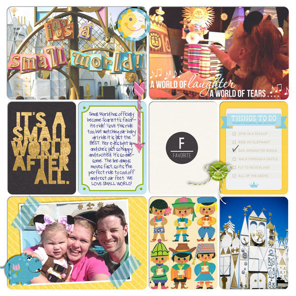 Disney It's A Small World Digital Project Life Page by britt featuring Project Mouse Alphabet Cards by Britt-ish Designs and Sahlin Studio