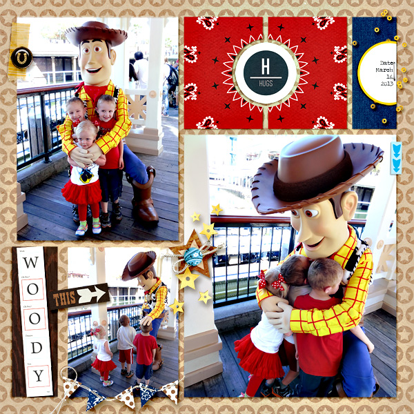 Woody Meet and Greet Digital Project Life Page by camijo featuring Project Mouse Alphabet Cards by Britt-ish Designs and Sahlin Studio