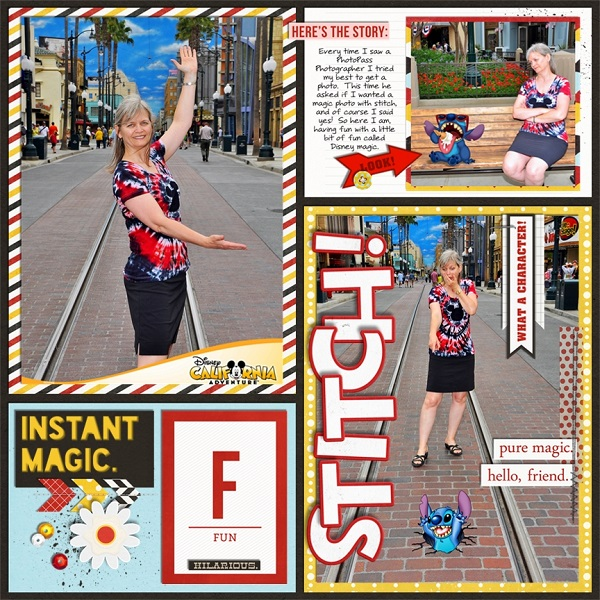 Stitch! Digital Project Life Page by jan featuring Project Mouse Alphabet Cards by Britt-ish Designs and Sahlin Studio