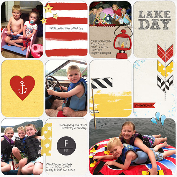 Lake Day Digital Project Life Page by kelsy featuring Project Mouse Alphabet Cards by Britt-ish Designs and Sahlin Studio
