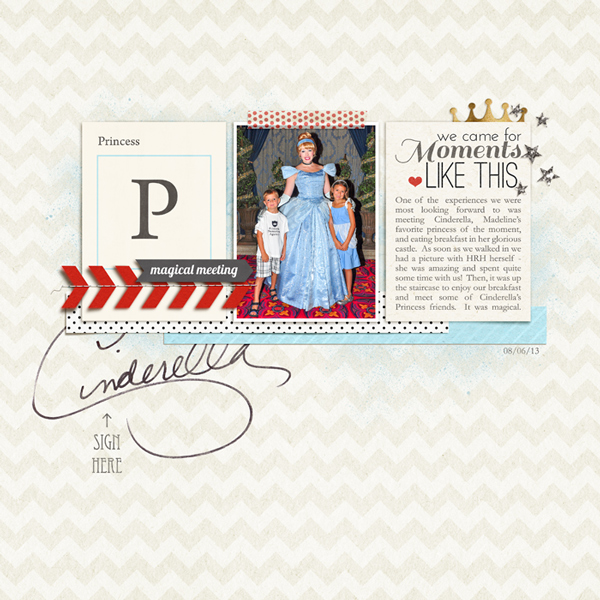 Disney Cinderella Princess digital scrapbook page by rlma featuring Project Mouse Alphabet Cards by Britt-ish Designs and Sahlin Studio.