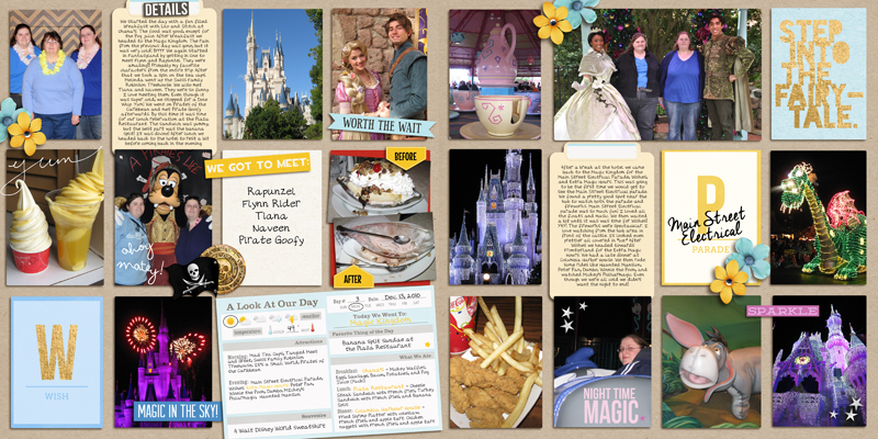 Disney Project Life Double Page by yzerbear19 featuring Project Mouse Alphabet Cards by Britt-ish Designs and Sahlin Studio