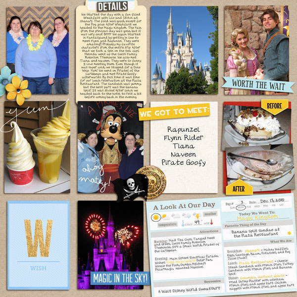 Disney Project Life Double Page (left) by yzerbear19 featuring Project Mouse Alphabet Cards by Britt-ish Designs and Sahlin Studio.