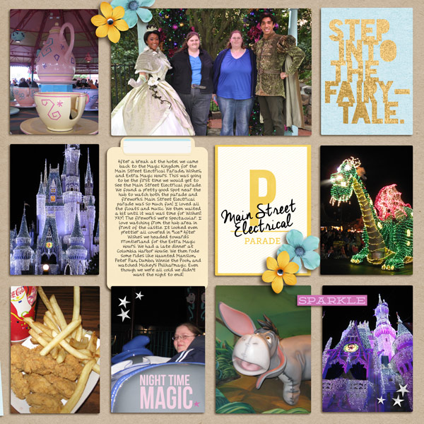Disney Project Life Double Page (right) by yzerbear19 featuring Project Mouse Alphabet Cards by Britt-ish Designs and Sahlin Studio.
