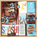 Disney Splash Mountain Digital Project Life Page by julie featuring Project Mouse Alphabet Cards by Britt-ish Designs and Sahlin Studio