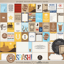 Project Mouse (Frontier): Journal Cards by Britt-ish Designs and Sahlin Studio - Perfect for scrapbooking / project life your magical memories from Frontierland at Disney
