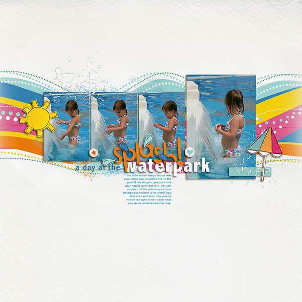digital scrapbooking layout created by 1girl1boy featuring waterpark by sahlin studio and jacque larsen
