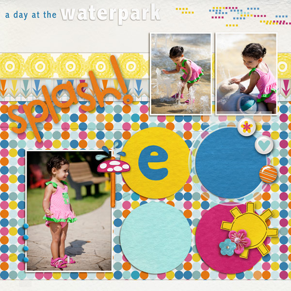 digital scrapbooking layout created by brena80 featuring waterpark by sahlin studio and jacque larsen
