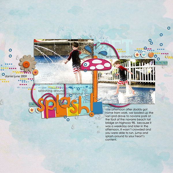 digital scrapbooking layout created by gonewiththewind featuring waterpark by sahlin studio and jacque larsen