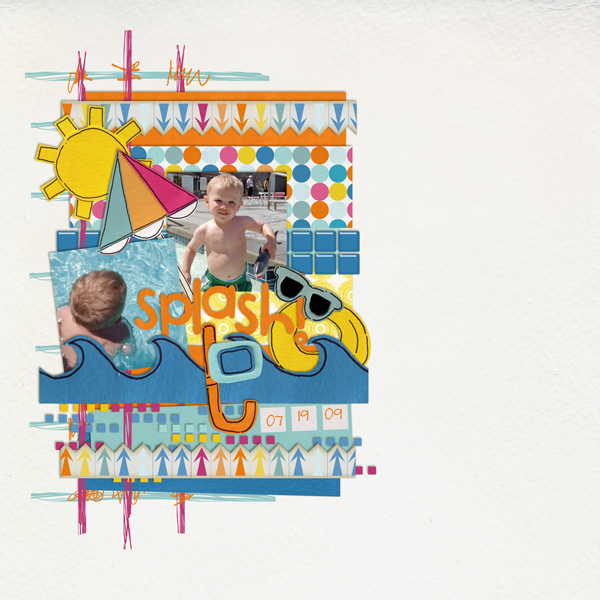 digital scrapbooking layout created by jam1el33 featuring waterpark by sahlin studio and jacque larsen