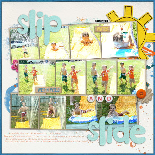 digital scrapbooking layout created by joelsgirl featuring waterpark by sahlin studio and jacque larsen