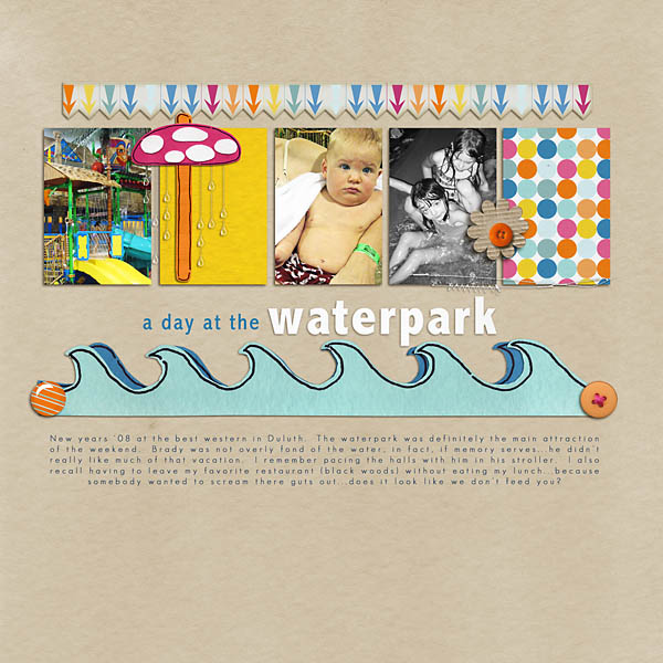 digital scrapbooking layout created by kkklatt featuring waterpark by sahlin studio and jacque larsen
