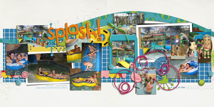digital scrapbooking layout created by kristasahlin featuring waterpark by sahlin studio and jacque larsen