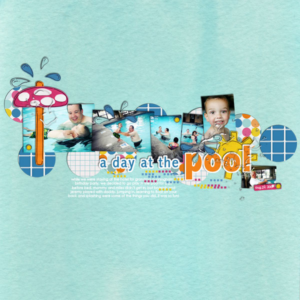 Pool Waterpark digital scrapbooking layout created by emilymerritt featuring waterpark by sahlin studio and jacque larsen