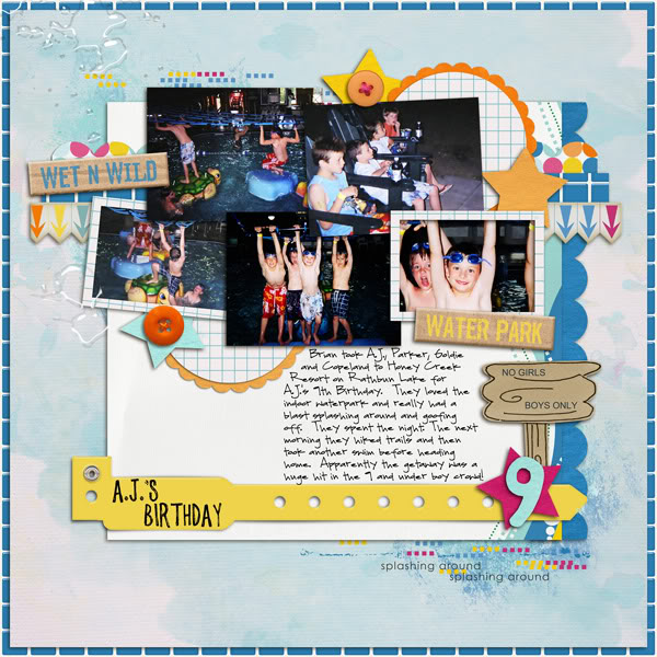 Pool Waterpark digital scrapbooking layout created by norton94 featuring waterpark by sahlin studio and jacque larsen