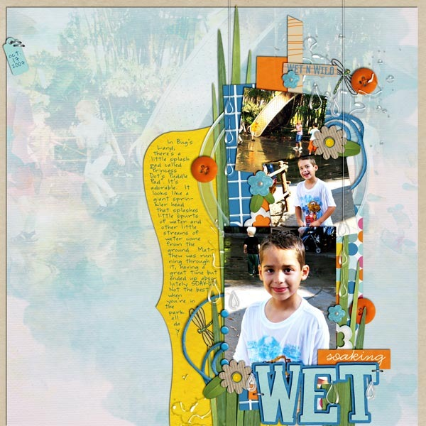Pool Waterpark digital scrapbooking layout created by britt featuring waterpark by sahlin studio and jacque larsen