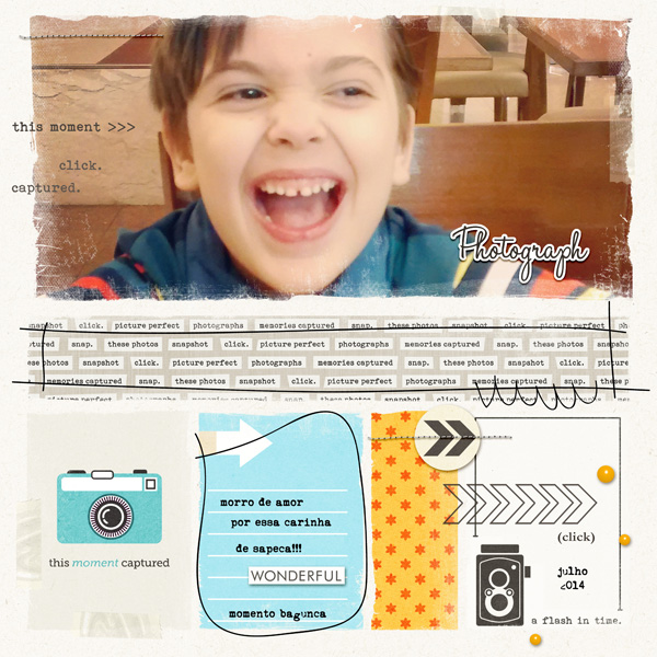 This Moment.  Click.  digital scrapbook page by AnaPaula featuring Flashback by Sahlin Studio