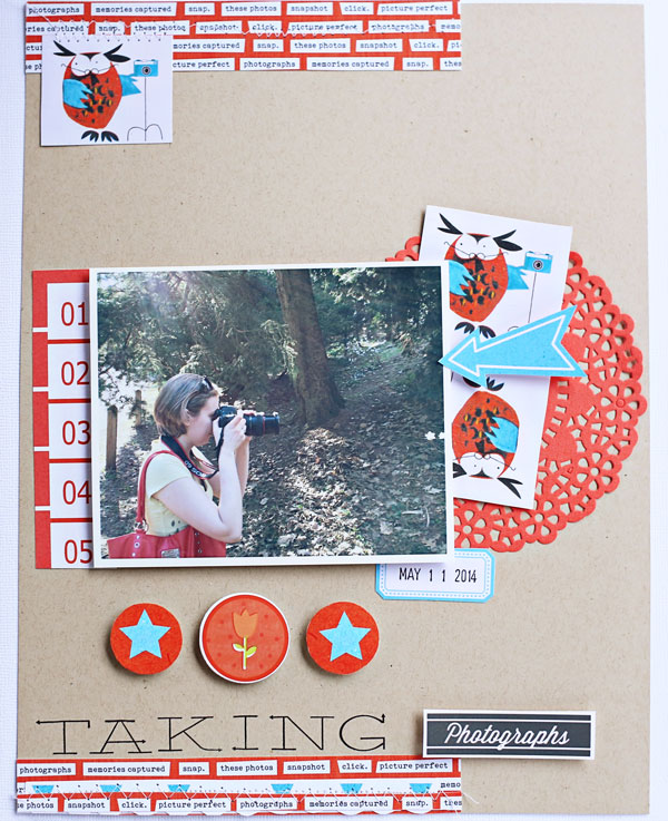 Taking Photographs digital scrapbook page by Cristina featuring Flashback by Sahlin Studio