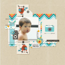 Everyday Photos digital scrapbook page by MlleTerraMoka featuring Flashback by Sahlin Studio
