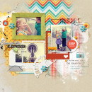 Snapshots digital scrapbook page by amberr featuring Flashback by Sahlin Studio