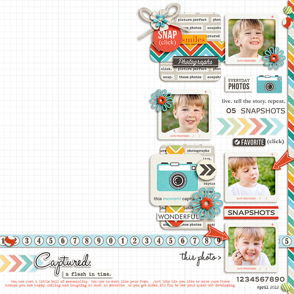 A flash in time digital scrapbook page by pne123 featuring Flashback by Sahlin Studio
