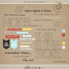 we are storytellers word art pack by sahlin studio