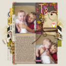 Gorgeous Kids digital scrapbooking layout created by gracielou featuring Retro Mod by Sahlin Studio
