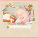 Summer Digital Scrapbook Page by pne123 featuring Hello Sun by Sahlin Studio